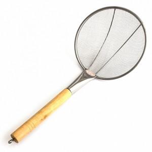 Половник-шумовка Д=200 с деревянной ручкой
