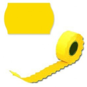 Этикетки 26х16 волнистый край желтые (Prix) 800