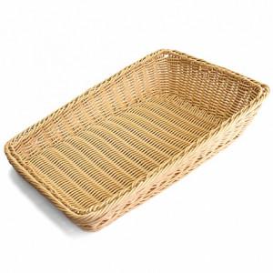 Подставка для выкладки светло-коричневая прямоугольная 45х30х4/10см