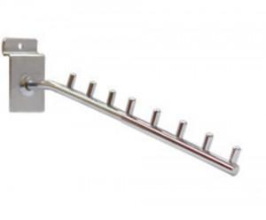 Кронштейн для экономпанели прямой, 8 штырьков, хром, L=350 мм, Ø8 мм