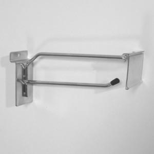 Крючок с ценникодержателем для экономпанели 200мм d.4,5mm хром