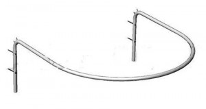 Кабина примерочная полукруглая, 1000х1000х325  мм