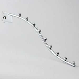 """Кронштейн на стойку, """"Дуга"""" с шар., хром, L=400 мм, Ø8 мм"""