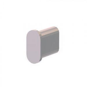 Заглушка для овальной трубы 30х15х1,5 мм хром