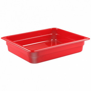 Гастроемкость 1/2, Н-65, 325х265х65мм, п/п (пластик, красный)