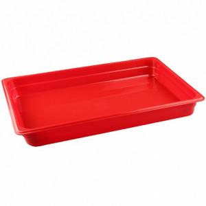 Гастроемкость 1/1, Н=65, 530x325х65мм, п/п (пластик, красный)
