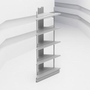 Стеллаж усиленный угловой (внешний угол) с базой