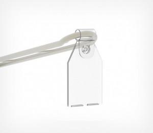 Откидной ценникодержатель на крючок 30 мм